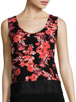 Love By Design Love by Design Crochet Lace-Trim Tank Top