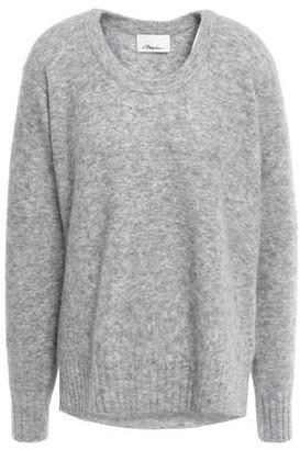 3.1 Phillip Lim Melange Brushed-knitted Sweater