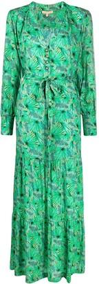 Melissa Odabash Fern-Print Maxi Dress