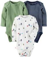 Carter's Baby Boys' 3-Pack Side Snap Bodysuits