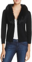 Milly Fur-Collar Wool Cardigan