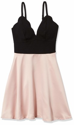 Speechless Junior's Scalloped Bodice Fit and Flare Dress