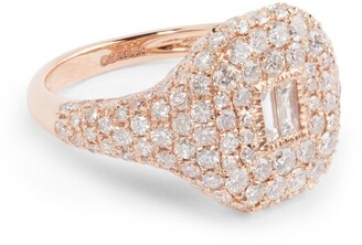 Shay Rose Gold and Diamond New Modern Pave Pinky Ring