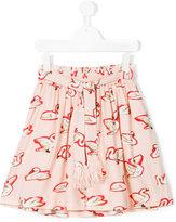 Stella McCartney Teen Myrtle swan skirt - kids - Viscose - 14 yrs