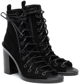 Ann Demeulemeester Suede lace-up ankle boots
