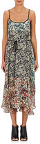 Gary Graham Women's Mixed-Floral Silk Slip Dress