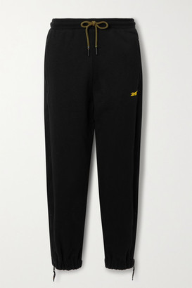Reebok x Victoria Beckham French Cotton-terry Track Pants - Black