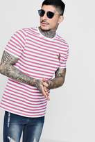 boohoo Stripe T-Shirt With Embroidery