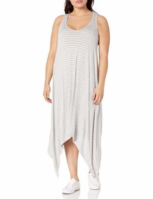 SLINK Jeans Women's Plus Size Stripe Tank Dress