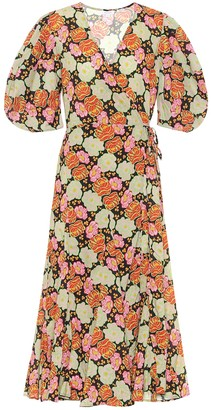 Rhode Resort Fiona floral cotton wrap dress