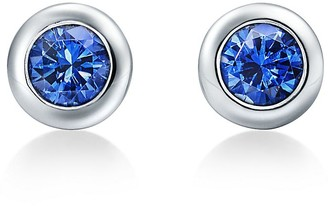 Tiffany & Co. Elsa Peretti Color by the Yard earrings in platinum with sapphires