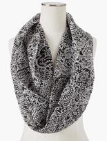 Talbots Pleated Scroll Infinity Scarf
