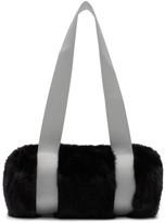Landlord Black and Grey Mini Faux-Fur Duffle Bag