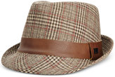 Sean John Men's Tweed Plaid Fedora