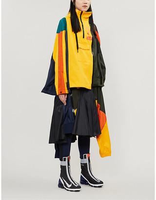 Nike X Sacai Colour-block logo-print shell jacket
