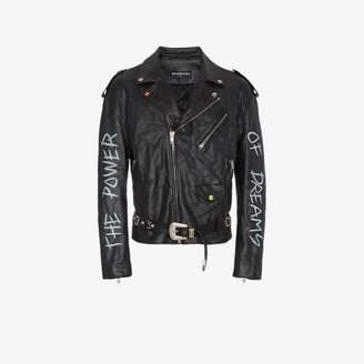Balenciaga The Power Of Dreams leather jacket