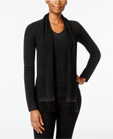 Karen Scott Luxsoft Embellished Scarf Sweater, Only at Macy's