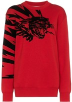 Givenchy flying cat jacquard jumper