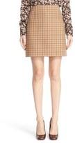 Michael Kors Plaid Wool A-Line Skirt