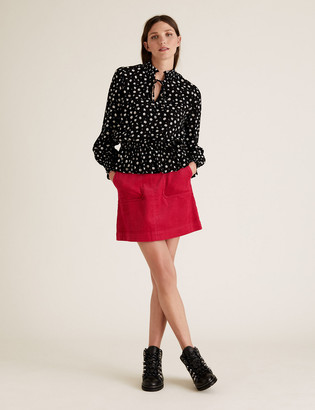 Marks and Spencer Cord Mini A-Line Skirt