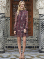 The Jetset Diaries Labyrinth Paisley Mini Dress in Labyrinth Paisley