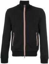 Moncler striped trim zip sweatshirt