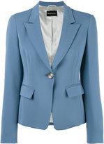 Emporio Armani one button blazer - women - Polyester/Spandex/Elastane/Acetate/Viscose - 40