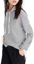 Madewell Women's Stripe Funnel Neck Tie Sleeve Sweatshirt