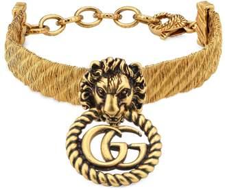 Gucci Lion head bracelet with Double G