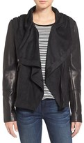 Vince Camuto Women's Leather & Suede Hooded Jacket