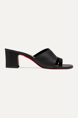 Christian Louboutin Viberta 55 Leather Mules - Black