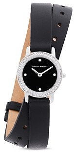 Rebecca Minkoff Major Double-Wrap Leather Strap Watch, 22mm