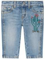 Gucci Cactus Embroidered Jeans