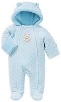 Little Me Infant Boys' Diamond Quilted Velour Bear Pram Suit - Sizes 3/6-6/9