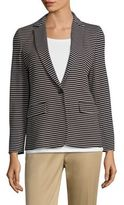 Max Mara Carta Jersey Striped Blazer