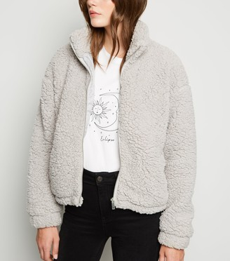 New Look High Neck Teddy Jacket