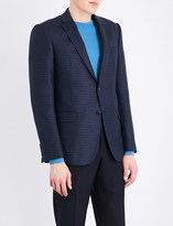 Armani Collezioni Checked wool and cashmere-blend jacket