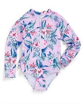 Sunseeker Baby Aloha Back Frill Onesie(3Y-7Y)