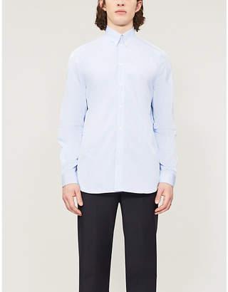 Givenchy Pinstriped logo-print casual-fit cotton shirt