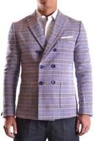 Daniele Alessandrini Men's Multicolor Cotton Blazer.