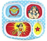 Bumkins DC Comics Divided Melamine Plate, Wonder Woman by