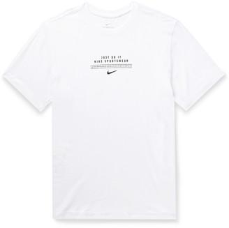 Nike Dna Logo-Print Cotton-Jersey T-Shirt