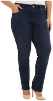 Jag Jeans Plus Size Patton Mid Rise Straight Jeans in Blue Shadow