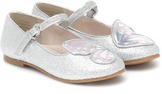 Sophia Webster Mini Butterfly glitter ballet flats