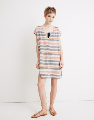 Madewell Cover-Up Tunic Dress in Towel Stripe