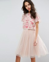 Needle & Thread Cherry Blossom Embroidered Top