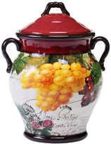 Certified International Botanical Fruit 10.5-in. Biscotti Jar