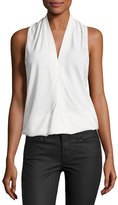 Ramy Brook Robi Sleeveless Crepe Top, Ivory