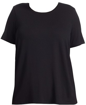 Eileen Fisher, Plus Size Short-Sleeve Cotton Tee
