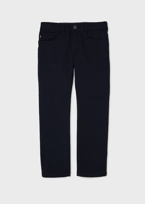 Emporio Armani Five-Pocket Trousers In Cotton Gabardine